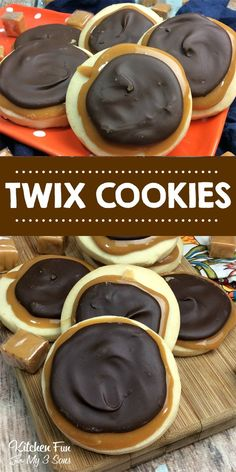 Delicious chocolate and carmel Twix Cookies - Twix copycat recipe.