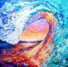 New Dawn 3 Art Print by Susan Card. Posca Art, Prophetic Art, A Course In Miracles, Surf Art, Ocean Art, Christian Art, Beauty Art, Beautiful Paintings, Frank Ocean