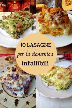 10 lasagne per la domenica infallibili Yummy Recipes, Dinner Recipes, Cooking Recipes, Healthy Recipes, Amazing Recipes, Best Italian Recipes, Favorite Recipes, Confort Food, Cannelloni
