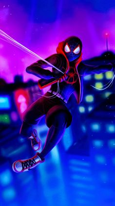 Miles Morales - Ultimate Spider-Man, Into the Spider-Verse Black Spiderman, Amazing Spiderman, Noir Spiderman, Spiderman Spider, Spiderman Gratis, Spider Man, Films Marvel, Marvel Art, Marvel Heroes