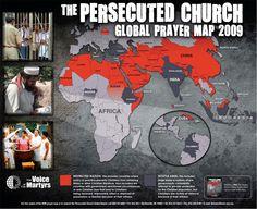 Persecuted Church Global Prayer Map