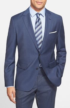 BOSS 'Jewels' Trim Fit Herringbone Wool Sport Coat (Online Only) available at #Nordstrom