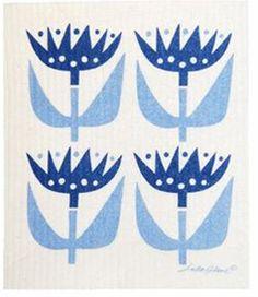 Klippan Tulip Blue Dish Cloth - 2 Pack