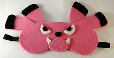 Snubbull pokemon handmade blindfold mask by TosTosia