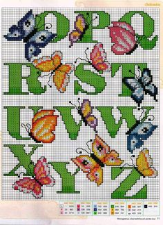 counted cross stitch kits: butterflies anphabet | make handmade, crochet, craft