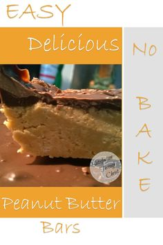 No Bake Peanut Butter Bars - Satisfaction Through Christ