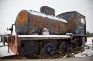 Old Rusty Scrap Tank Engine Locomotive