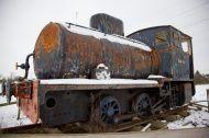 Old Rusty Scrap Tank Engine Locomotive