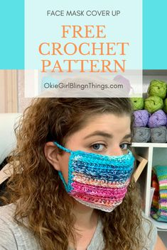 Crochet your very own face mask! This DIY Face Mask pattern is designed to be worn over your traditional medical grade face mask. This fun crochet pattern will allow you to add a little bit of personalization to your otherwise boring face mask. Crochet Mask, Crochet Faces, Knit Crochet, Crochet Unicorn, All Free Crochet, Easy Crochet, Knitting Patterns, Crochet Patterns, Beanie Pattern