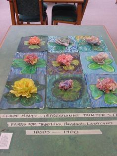 3D Tissue Paper Monet Waterlilies