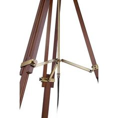 Cherry Finish Wood Surveyor Tripod Floor Lamp - #W1650 | LampsPlus.com