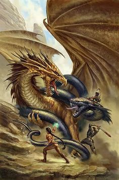 Wow ... this one is pretty much perfect for the book! The Dragon Tamers and Snake Charmers do not get along well...