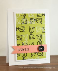 Cool card made by Laurie, inspired by one of her pins!