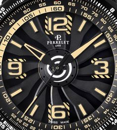 Perrelet Turbine Pilot Grand Raid - dial detail. More @ http://www.watchtime.com/wristwatch-industry-news/watches/showing-at-watchtime-new-york-2016-perrelet-turbine-pilot-grand-raid/ #watchtime #watchnerd #watchgeek