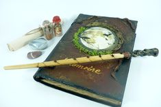 Old book of shadows with blank pages/Grimoire journal/Witch's travel diary/ Book for wiccans Dragon Wolf, Make A Dragon, Diary Book, Blank Page, Magic Book, Old Books, Book Of Shadows, Wiccan, The Book