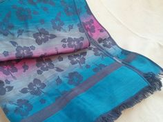 Ladies Pashmina Cashmere Scarf Fringe Stole Soft Shawl Wrap Floral Blue Pink  in Clothing, Shoes, Accessories, Women's Accessories, Scarves, Wraps   eBay!