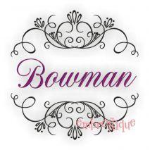 Bowman Font Frame Flourish