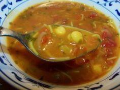 Sopa harira marroquina