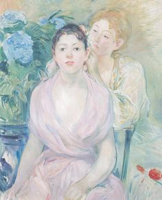 Berthe Morisot The Hydrangea (The Two Sisters)