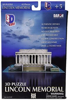 Daron Lincoln Memorial 3D Puzzle, 42-Piece, 2015 Amazon Top Rated 3-D Puzzles #Toy