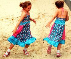 Ein Sommerkleid für Mädchen nach dem Schnittmuster VENTURA von farbenmix nähen