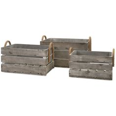 Coosa Wood Crates (Set of 3)