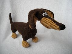 Crochet Toy  dachshund Amigurumi Dachshund stuffed by innakozachuk