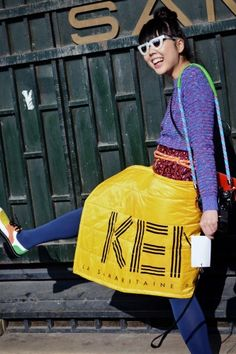 Eye Candy: Prettiest Pics From Paris.  Quirky in Kenzo
