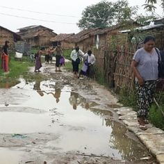 Myanmar, Yangon Is raining season here in Myanmar, but brothers and sisters still going house to house!!!!