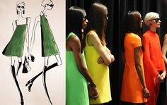 Classic silhouettes with a modern twist backstage at the Ralph Lauren Collection Spring 2014 show