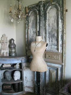 French Touch by Zaza Dress Form Mannequin, Vintage Mannequin, Old French Doors, Old Doors, Amazing Decor, French Home Decor, Vintage Interiors, Home Decor Inspiration, Decor Ideas