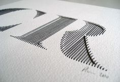 Sewn letters...beautiful!: