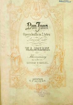 MOZART, W.A. Don Giovanni. C.F. Peters.
