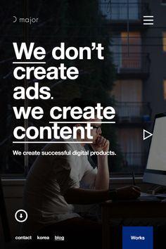 d major responsive website on Behance