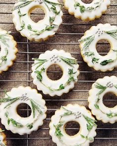 This Frosted Wreath Cookies With Lemon Glaze recipe is featured in the Tree Trimming Party feed along with many more. Lemon Glaze Recipe, Shortbread, Clean Eating Recipes For Weight Loss, Biscuits, Cookie Swap, Cookie Time, Christmas Baking, Christmas Holiday, Christmas Ideas