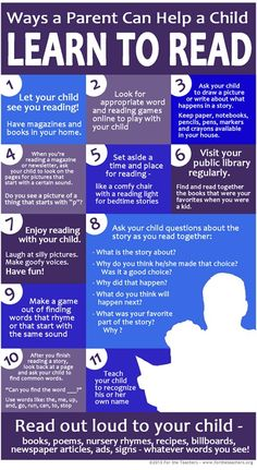 Ways a parent can help a child learn to read.