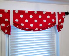 Made to Order Bold Large Red White POLKA DOT by supplierofdreams