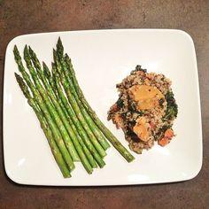 quinoa, sweet potato, kale, and carrot!