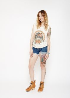 Highway Star Muscle Tee - Dirty White