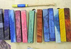 Another stabilized wood shipment arrived this afternoon. The colors are amazing eye candy. Quite a bit more depth and texture than the blue acrylic. Its good to experiment with a variety of materials to find what works best for vibrant color. Stabilized Wood, Calligraphy Pens, Cool Eyes, Experiment, Art Supplies, Eye Candy, Vibrant Colors, Texture, Amazing