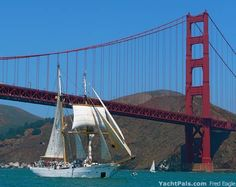 Sailing Under the Golden Gate into San Francisco Bay | YachtPals.com