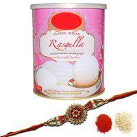 Rasgulla With Rakhi Hamper