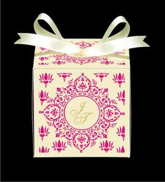 Personalised Favor and Chocolate Boxes with Indian flair Indian Wedding Cards, Indian Wedding Invitations, Wedding Invitation Design, Chocolate Boxes, Party Favours, Wedding Favor Boxes, Personalized Favors, Mehendi, Retro Style