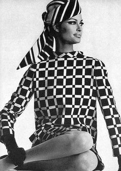 Editha Dussler in a Halston turban and Aldrich dress by Irving Penn, 1966