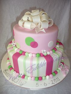Girls Baby Shower Cake Picture