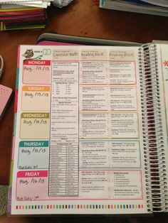 Erin Condren Teacher Planner Lesson Plan Template