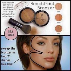 Ever wondered how to apply bronzer correctly? Check this out! This is the best bronzer I've ever tried.
