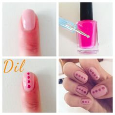 #nails#rosa#pallini#dil