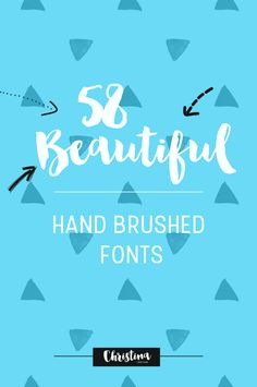 Today's post will be all about hand painted fonts (or you may have seen them called brush fonts, hand painted typefaces, hand brushed scripts or brushscript typefaces). Paint Font, Brush Script, Handwritten Fonts, Beautiful Hands, Hand Painted, How To Plan, Scripts, Blogging, Inspiration