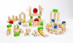 PlanEducation Bausteine Medium Holzspielzeug Bauset Bauklötze (Alter: 3-8 Jahre)